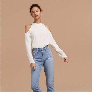 Aritzia Wilfred Free Mccall Cold Shoulder Blouse